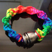 Pipe Bracelet - Spiral Rainbow (Custom Sizes Available)