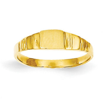 14K Square Baby Signet Ring
