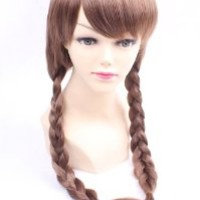 HealthTop 80cm Lolita Long Wavy Brown Girl Women Brand New Heat Resistance Cosplay Wig Anime Show & Party & Performance Hair Full Wigs