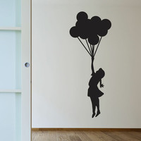 Banksy Balloon Girl Wall Decals