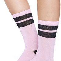 Kawaii Stripe Crew Sock