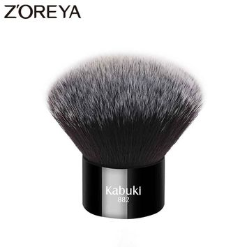 Zoreya Brand 2017 New arrive women Fashion short Makeup Synthetic hair brush  Black color Kabuki Brush for daily use