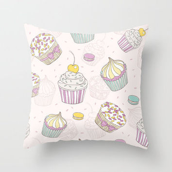 Sweets Galore! Throw Pillow by All Is One