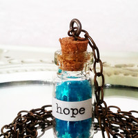 "Magic in a Bottle ""Hope"" Necklace"