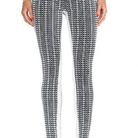 7 For All Mankind Pieced Jacquard Skinny in Black