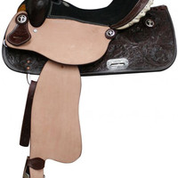 Saddles Tack Horse Supplies - ChickSaddlery.com Double T Barrel Saddle With Cross Conchos