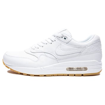 NIKE AIR MAX 1 LEATHER PA - WHITE/GUM LIGHT BROWN | Undefeated