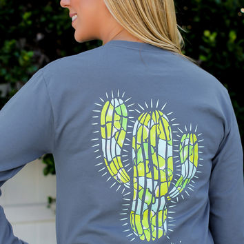 Southern Darlin' - Cactus Long sleeve Tee