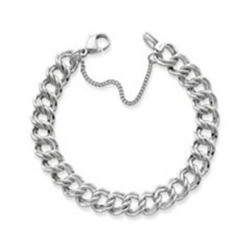 Heavy Double Curb Charm Bracelet | James Avery