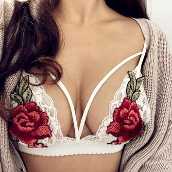 Flower Pattern Bra