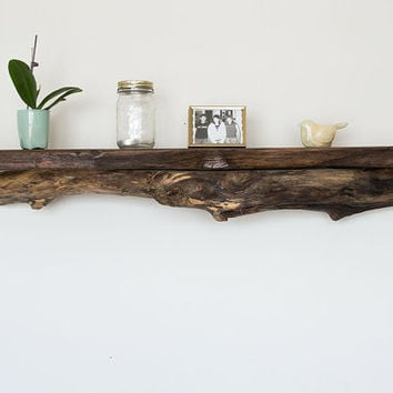 Driftwood Shelf - Reclaimed Wood Shelf - Rustic Shelf - Driftwood Beach Decor - Cabin Decor - Large Wood Shelf - Reclaimed Wood Furniture