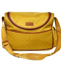 Gucci Guccissima Yellow Nylon Diaper Bag Baby Bag 123326