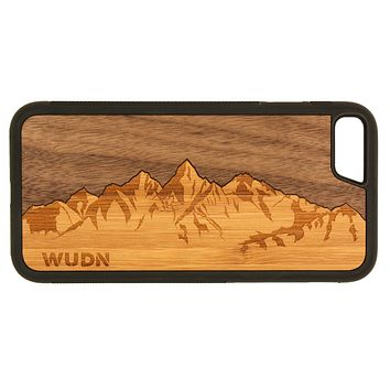 Slim Wooden Phone Case | Sawtooth Mountains Traveler