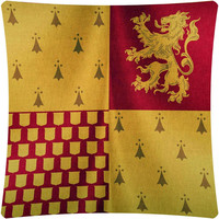 Harry Potter Gryffindor Flag  Decorative Throw Pillow Cover