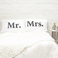 Rise and Fall Mr Mrs Pillowcase Set