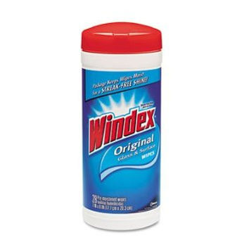 Windex Glass & Surface Wet Wipe, Cloth, 7 X 10, 28/Pack