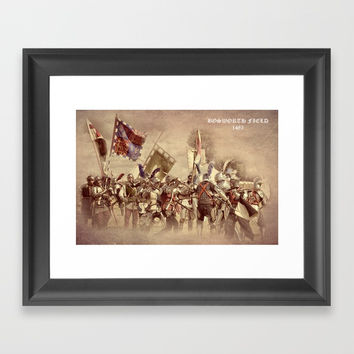 Battle of Bosworth Framed Art Print by Linsey Williams Wall Art, Clothing, And