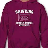 Hawkins Middle School A.V. Club 1983 Hoodie Hooded Sweatshirt Inspired By Stranger Things