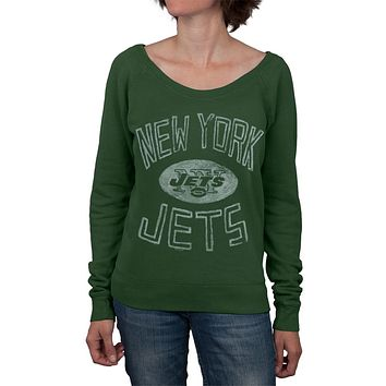 New York Jets - Logo Off Shoulder Juniors Sweatshirt