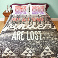 Boho Stray Awhile Duvet Cover in Full, Queen by ModCloth