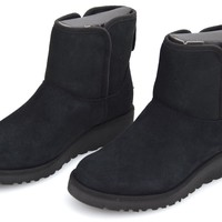 UGG AUSTRALIA WOMAN ANKLE BOOT BLACK SUEDE CODE W KRISTIN 1012497 W