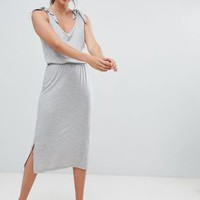 Vero Moda Aware Tie Shoulder Jersey Midi Dress at asos.com