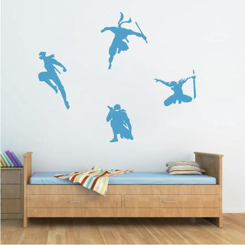 ik618 Wall Decal Sticker Ninja Japan spy defender dagger sword fighter warrior