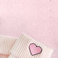 Heart Socks in Pink | NYLON SHOP