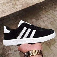 Adidas Fashionable Women Men Casual Sport Running Shoes Sneakers Black