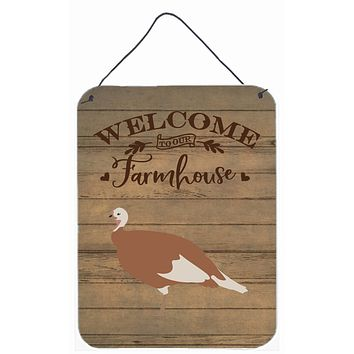 Jersey Buff Turkey Hen Welcome Wall or Door Hanging Prints CK6928DS1216