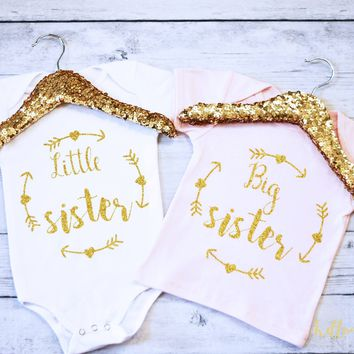 Big Sister and Little Sister Shirt Set