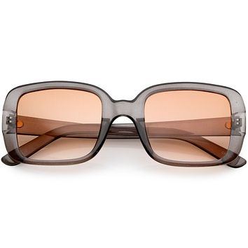 Women's Retro Modern Square Flat Lens Sunglasses C605