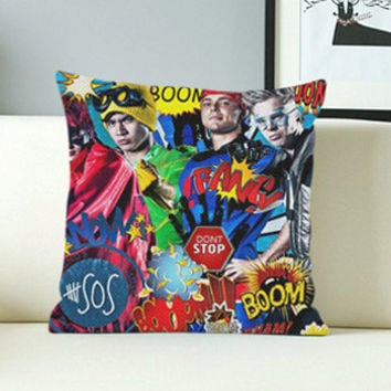 5 Seconds of Summer Don't Stop Art - Design Pillow Case with Black/White Color.