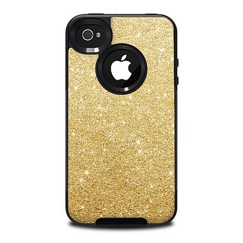 The Gold Glitter Ultra Metallic Skin for the iPhone 4-4s OtterBox Commuter Case