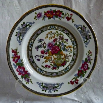 Paragon Fine Bone English China Red Floral | Tree of Kashmir | Collectors Plate