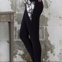 MOON BALANCE YOGA LEGGING - BLACK