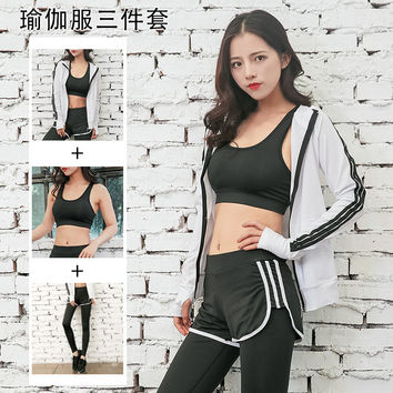 On Sale Bedroom Hot Deal Winter Yoga Quick Dry Gym Bra Pants Zippers Jacket Bedding Set [8967584646]