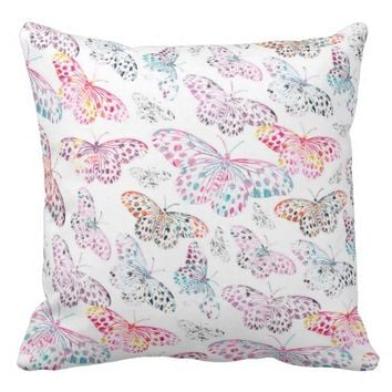 Marbling Butterflies - Pillow