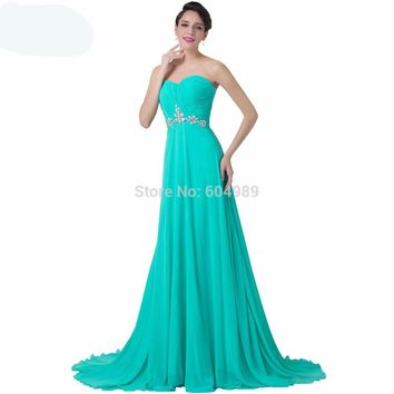Evening Dress  Grace Karin Turquoise Sweetheart Prom Long Formal Dresses