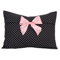 Wake Up Frankie - Brigitte Bar-dot Standard Sham - Lingerie Black : Teen Bedding, Pink Bedding, Dorm Bedding, Teen Comforters
