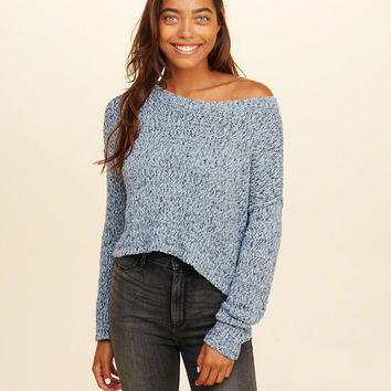 Girls Slouchy Crop Sweater | Girls New Arrivals | HollisterCo.com