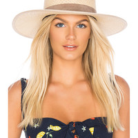 Janessa Leone Rosie Boater Hat in Natural