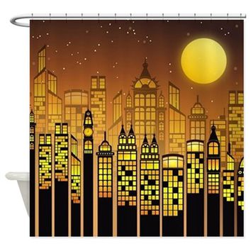 LIFE AFTER DARK SHOWER CURTAIN