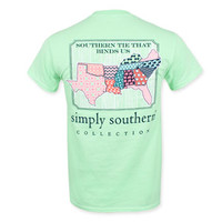 Simply Southern Patchwork States - Mint Green