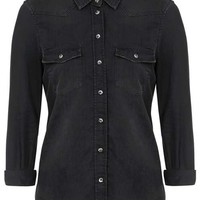 MOTO Fitted Western Shirt - Clothing