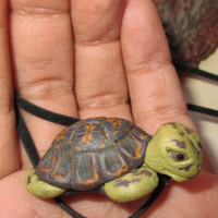 Turtle pendant, small cute turtle. Polymer clay turtle, handmade. Unique gift for girl, for women, for girlefriend