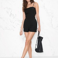 & Other Stories | Knot Romper | Black