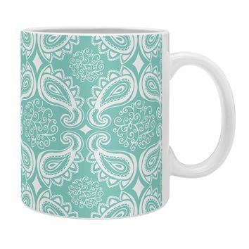 Heather Dutton Plush Paisley SeaSpray Coffee Mug
