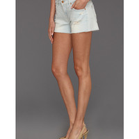 7 For All Mankind Cut Off Short in Distressed Light Distressed Light - Zappos.com Free Shipping BOTH Ways