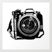 Camera Art Print by Luisa Mähringer